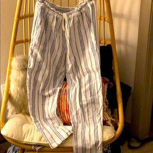 Drawstring waist Linen vacation pants!